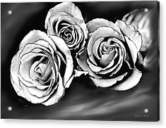 Her Roses Acrylic Print