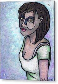 Her Smile Acrylic Print by Kamil Swiatek