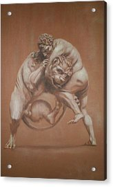 Heracles And The Lion Acrylic Print