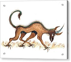 Heraldic Fantasy Creature Acrylic Print by Ion vincent DAnu