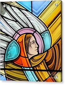 Heralding Angel Acrylic Print by Gilroy Stained Glass