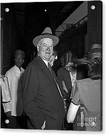 Acrylic Print featuring the photograph Herbert Hoover 1946 by Martin Konopacki Restoration