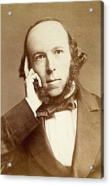 Herbert Spencer Acrylic Print by Paul D Stewart