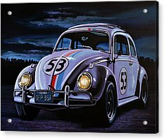 Herbie The Love Bug Painting Acrylic Print by Paul Meijering
