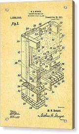 Herbrick Concrete Building Slab Patent Art 1921 Acrylic Print by Ian Monk