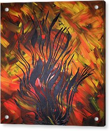Acrylic Print featuring the painting Herbst by Nico Bielow