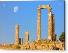 Hercules Temple, Jabal Al-qal'a, Amman Acrylic Print by Keren Su