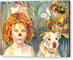 Acrylic Print featuring the painting Here Comes The Clowns by P Maure Bausch