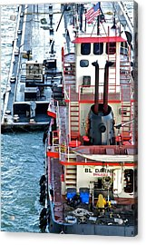Here Comes The Diesel Fuel For The Ship Acrylic Print by Kirsten Giving