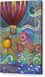 Here Comes The Sun Acrylic Print by Carla Bank