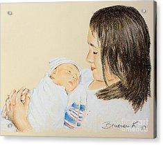 Here I Am Sister Acrylic Print by Katharina Filus