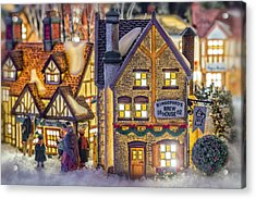 Here We Come A Caroling Acrylic Print by Caitlyn  Grasso