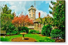 Hereford Inlet Lighthouse Garden Acrylic Print