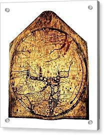 Hereford Mappa Mundi 1285 Upsized 2 Acrylic Print by L Brown