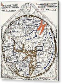 Hereford Mappa Mundi With Detail Upszed  Acrylic Print by L Brown