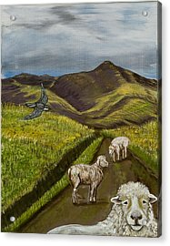 Acrylic Print featuring the painting Here's Looking At You Kid by Susan Culver