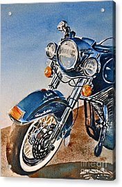 Heritage Softail Acrylic Print by Andrea Timm