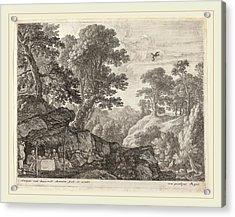 Herman Van Swanevelt, Saint Paul And Saint Anthony Fed Acrylic Print by Litz Collection