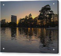 Hermann Park Sunset One Acrylic Print by Joshua House