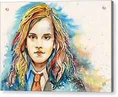Hermione  Acrylic Print by Alina Kurbiel