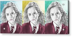 Hermione Granger - 3up One Print Acrylic Print by Alexander Gilbert