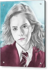 Hermione Granger - Individual Blue Acrylic Print by Alexander Gilbert