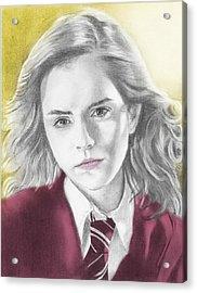 Hermione Granger - Individual Yellow Acrylic Print by Alexander Gilbert