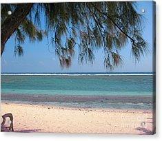 Hermitage - Ile De La Reunion - Reunion Island - Indian Ocean Acrylic Print by Francoise Leandre