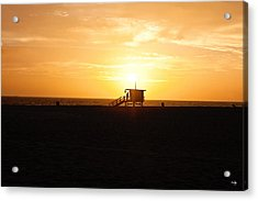 Hermosa Beach Sunset Acrylic Print by Scott Pellegrin