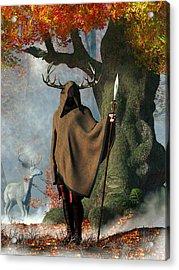 Herne The Hunter Acrylic Print by Daniel Eskridge