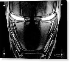 Hero In Shining Iron Acrylic Print by Kayleigh Semeniuk