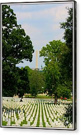 Heroes And A Monument Acrylic Print by Patti Whitten