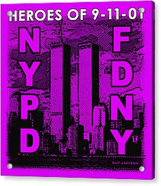 Heroes Of 9-11-01 Acrylic Print by Clif Jackson