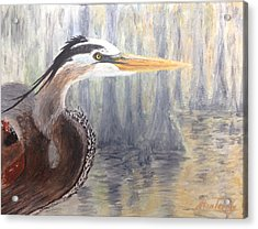 Acrylic Print featuring the painting Heron by Stan Tenney