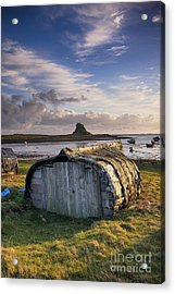 Herring Boat Hut Lindisfarne Hdr Acrylic Print by Tim Gainey