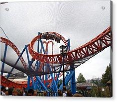 Hershey Park - Fahrenheit Roller Coaster - 12124 Acrylic Print