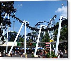 Hershey Park - Great Bear Roller Coaster - 121210 Acrylic Print by DC Photographer