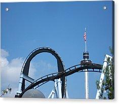 Hershey Park - Great Bear Roller Coaster - 121211 Acrylic Print