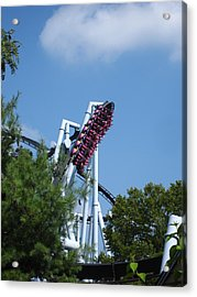 Hershey Park - Great Bear Roller Coaster - 121212 Acrylic Print by DC Photographer