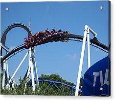 Hershey Park - Great Bear Roller Coaster - 121215 Acrylic Print by DC Photographer