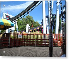 Hershey Park - Great Bear Roller Coaster - 121217 Acrylic Print by DC Photographer