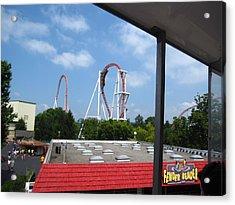 Hershey Park - Great Bear Roller Coaster - 12122 Acrylic Print by DC Photographer