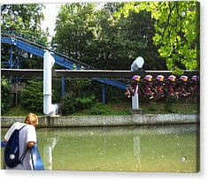 Hershey Park - Great Bear Roller Coaster - 12128 Acrylic Print by DC Photographer