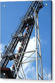 Hershey Park - Sidewinder Roller Coaster - 12121 Acrylic Print by DC Photographer