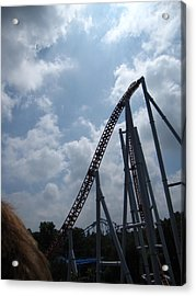 Hershey Park - Storm Runner Roller Coaster - 12122 Acrylic Print by DC Photographer