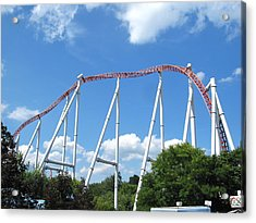 Hershey Park - Storm Runner Roller Coaster - 12126 Acrylic Print by DC Photographer