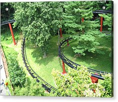Hershey Park - Trailblazer Roller Coaster - 12121 Acrylic Print by DC Photographer