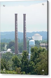 Acrylic Print featuring the photograph Hershey Smoke Stacks by Michael Porchik