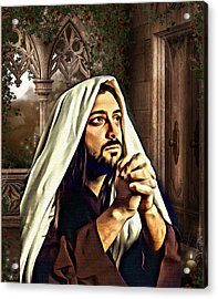 He's All I Need Acrylic Print by Karen Showell