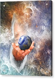 He's Got The Whole World In His Hand Acrylic Print